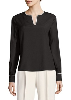 Calvin Klein Long-Sleeve Blouse