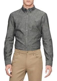 Calvin Klein Long-Sleeve Chambray Shirt