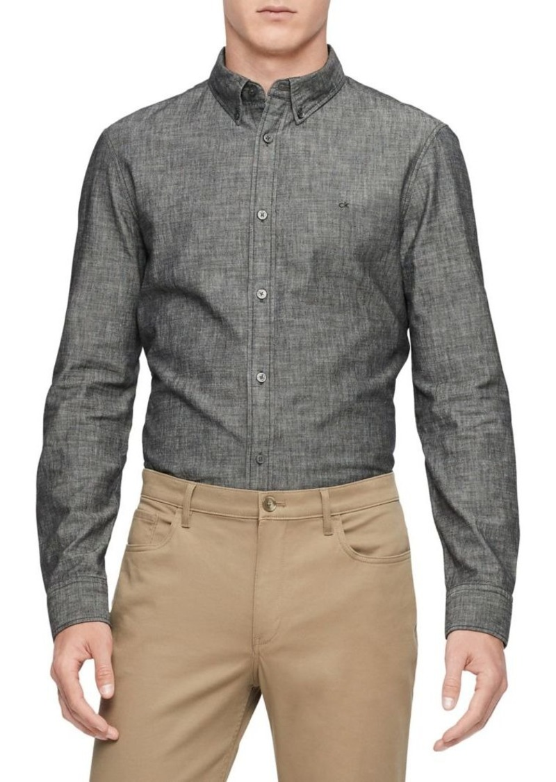 Calvin Klein Long-Sleeve Chambray Shirt