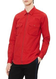 Calvin Klein Long-Sleeve Cotton Shirt Jacket