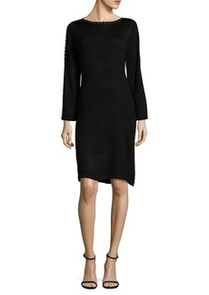 Calvin Klein Studded Sheath Sweater Dress