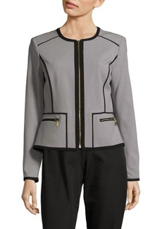 Calvin Klein Long-Sleeve Front Zip Jacket