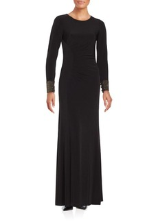 Calvin Klein Long Sleeve Gown