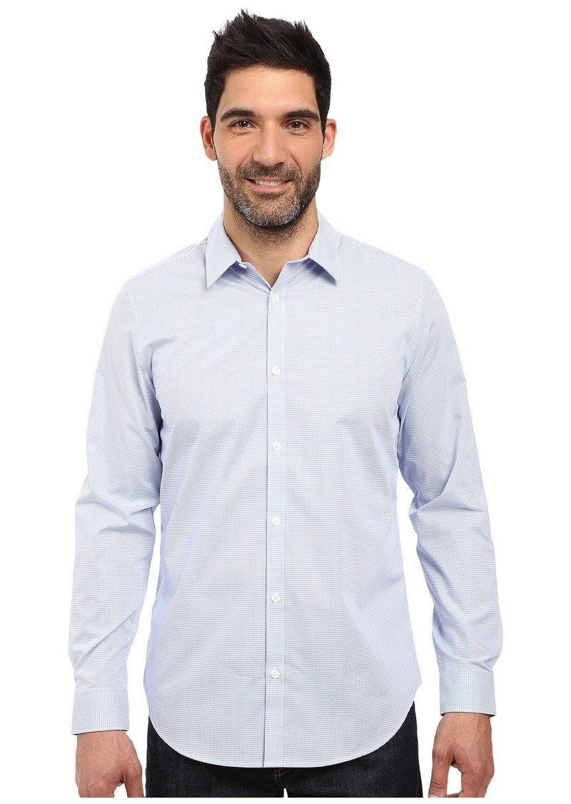Calvin Klein Long Sleeve Infinite Cool Button Down Mini Check Shirt