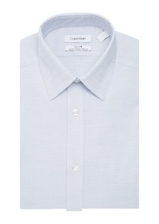 Calvin Klein Long-Sleeve Pinstripe Slim-Fit Dress Shirt