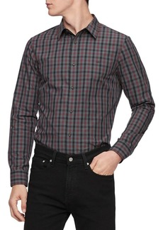 Calvin Klein Long-Sleeve Plaid Shirt