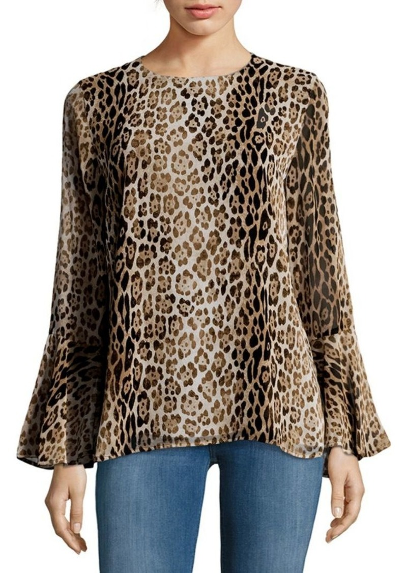 Calvin Klein Long-Sleeve Printed Blouse