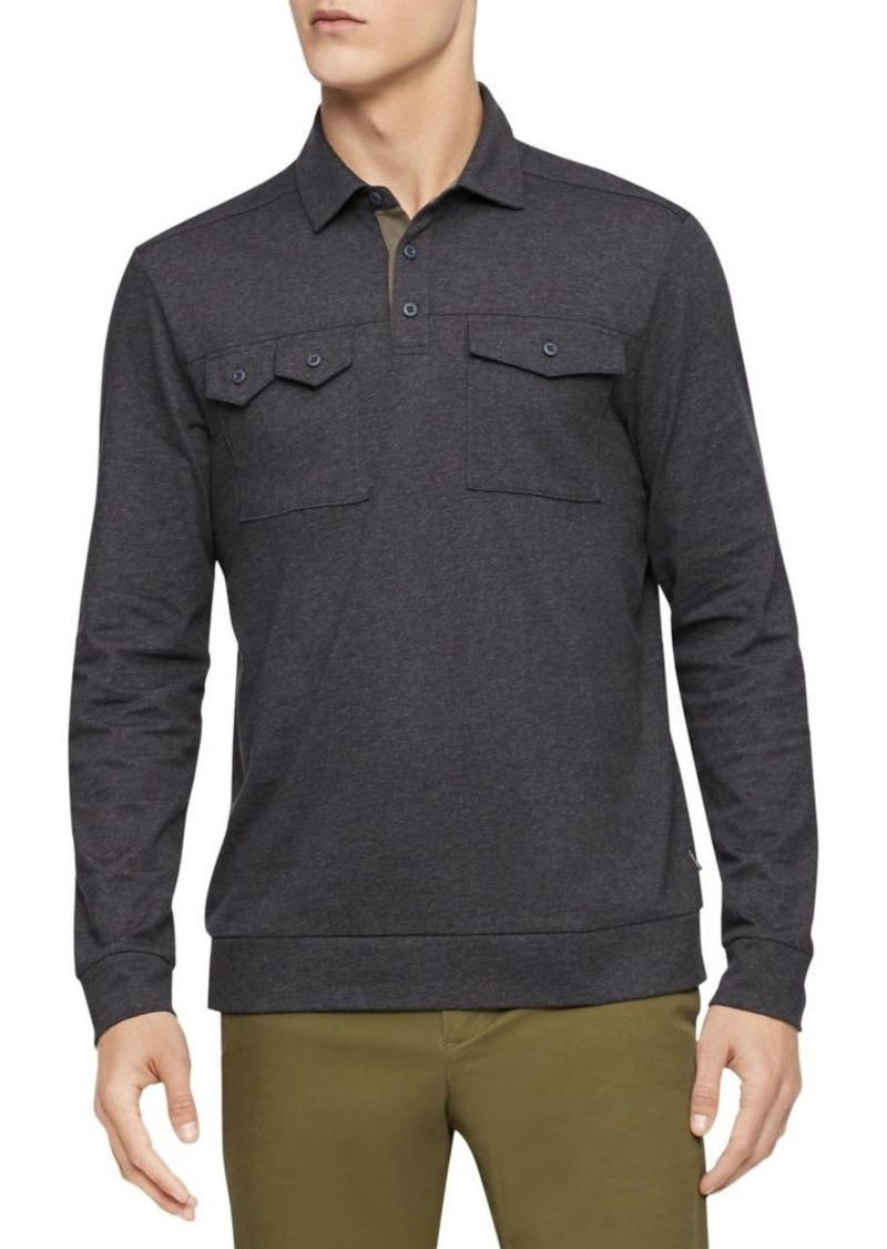Calvin Klein Long-Sleeve Rugby Shirt