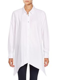 CALVIN KLEIN Long Sleeve Sharkbite Button Down Shirt