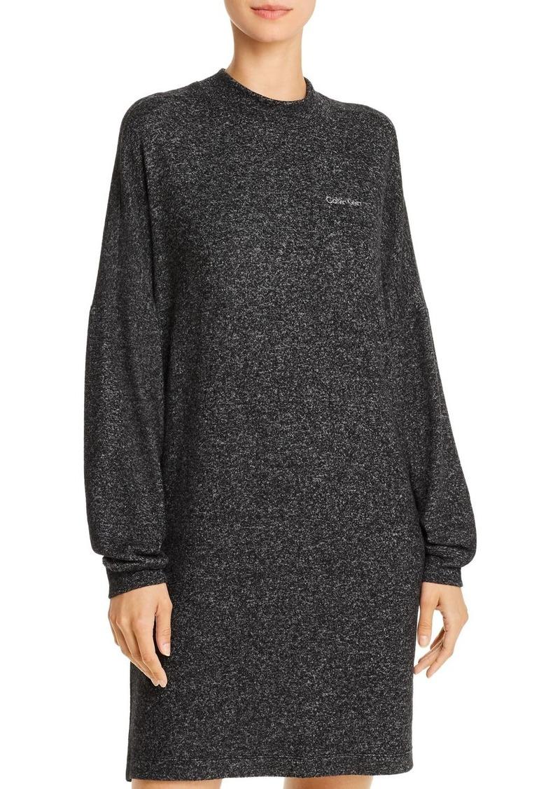 Calvin Klein Long-Sleeve Sophisticated Jersey Nightshirt