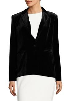 Calvin Klein Long Sleeve Velvet Jacket