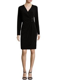 Calvin Klein Long Sleeve Wrap Dress