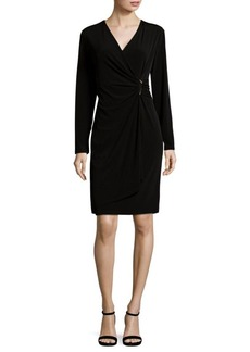 Calvin Klein Long Sleeve Wrap Dress