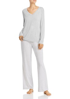 Calvin Klein Long Striped Pajama Set