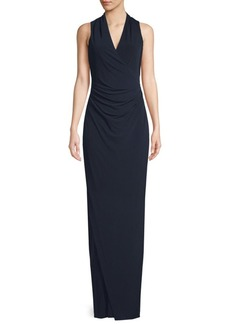 Long V-neck Sleeveless Cut-Out Dress