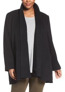 Calvin Klein Lux Basketweave Flyaway Coat (Plus Size)