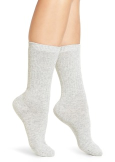 Calvin Klein Lux Ribbed Crew Socks