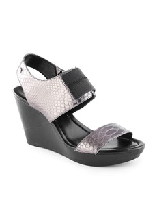 "Calvin Klein ""Madda"" Casual Wedge Sandals"