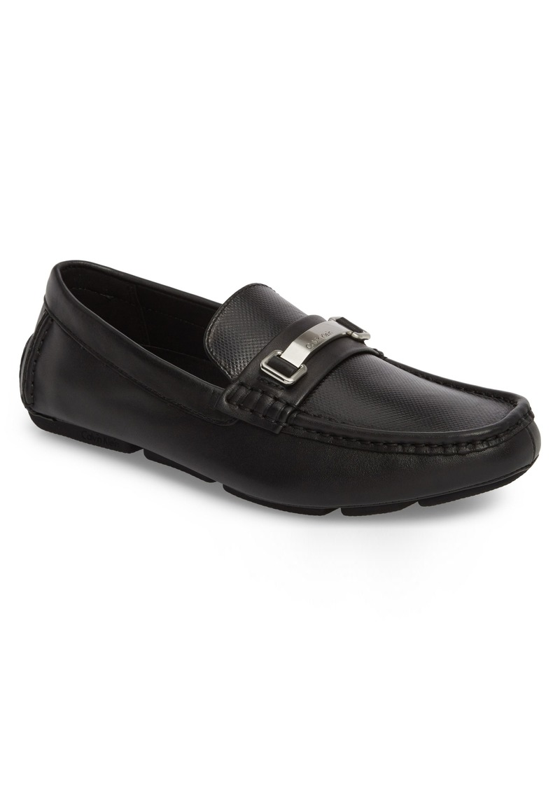 Calvin Klein Maddix Textured Driving Moccasin (Men)