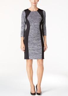 Calvin Klein Marled Scuba Sweater Dress