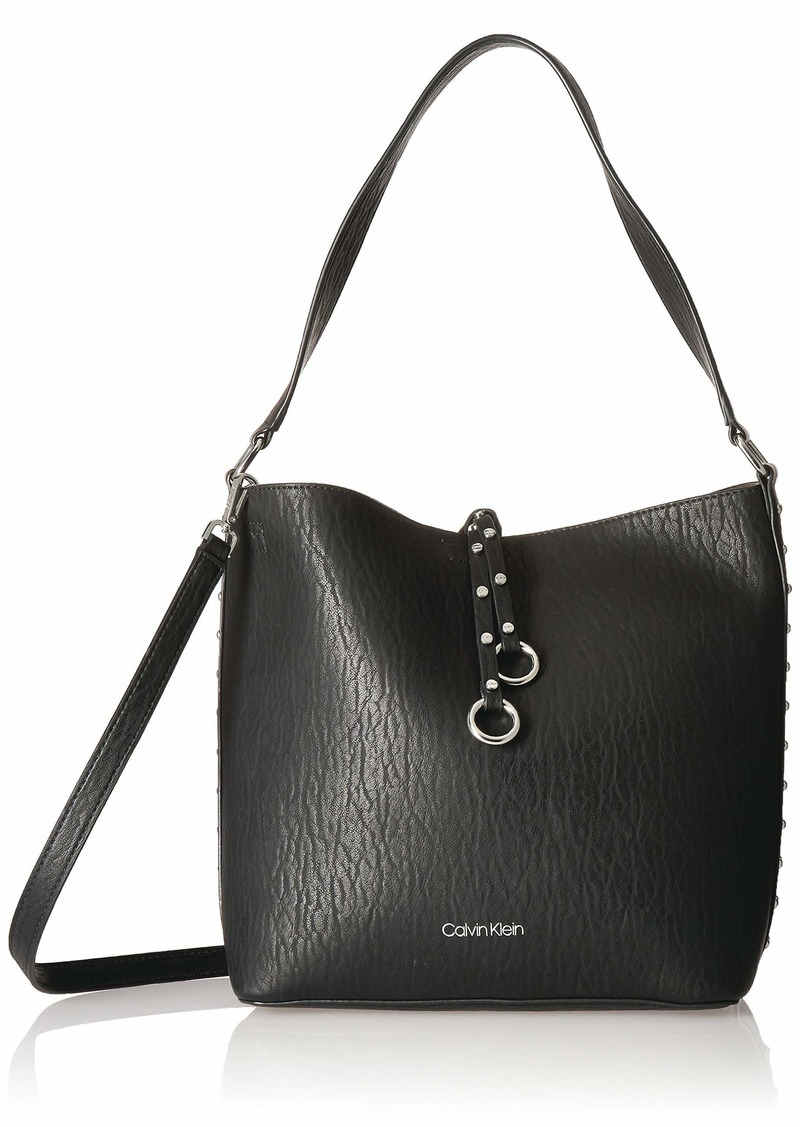 Calvin Klein Marlise Bubble Lamb Novelty North/South Bucket Hobo