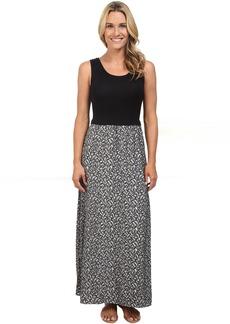 Calvin Klein Maxi Dress w/ Leaf Jauquard