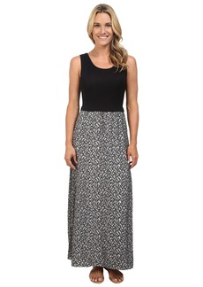 Calvin Klein Maxi Dress w/ Leaf Jauquard