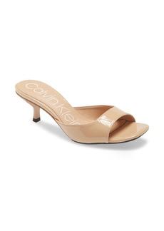 Calvin Klein Mega Kitten Heel Slide Sandal (Women)