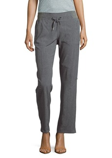 Calvin Klein Melan Textured Straight-Leg Pants