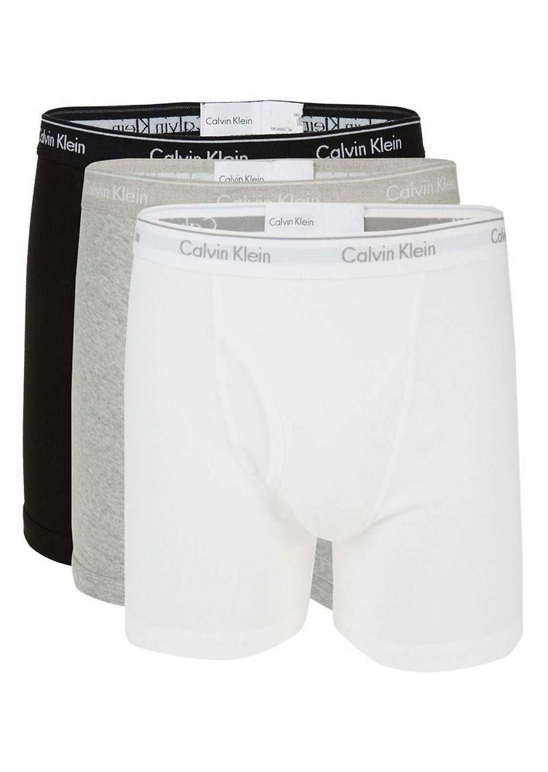 Calvin Klein Men's 100% Cotton Boxer Briefs