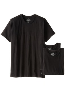 Calvin Klein Men's Undershirts Cotton Classics 3 Pack Crew Neck TshirtsBlack