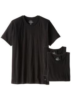 Calvin Klein Men's Undershirts Cotton Classics 3 Pack Crew Neck TshirtsBlack