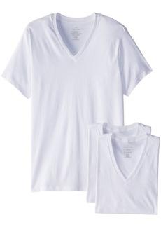 Calvin Klein Men's Undershirts 3 Pack Cotton Classics V-Neck T-Shirts