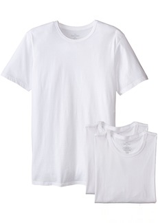 Calvin Klein Men's Undershirts Cotton Classics 3 Pack Slim Fit Crew Neck Tshirts