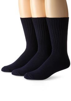 Calvin Klein Men's 3 Pack Cotton Rich Casual Rib Sock  Shoe Size