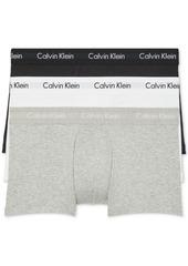 Calvin Klein Men's 3-Pack Cotton Stretch Low-Rise Trunks