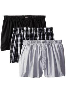Calvin Klein Men's Underwear 3 Pack Cotton Classic Woven Boxers