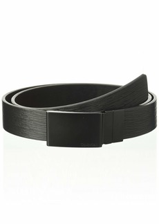 Calvin Klein Men's 32mm Reversible Embossed Leather Belt matte black