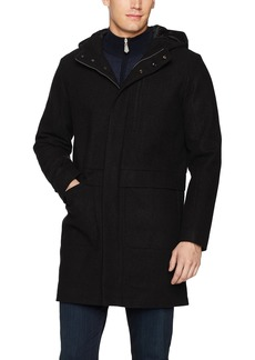 Calvin Klein Men's 3/4 Length Wool Hooded Jacket