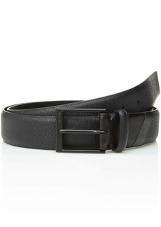 Calvin Klein Men's 35mm Belt with Contrast Backtab Matte Black