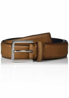 Calvin Klein Men's 35mm Burnished Leather Belt vachetta