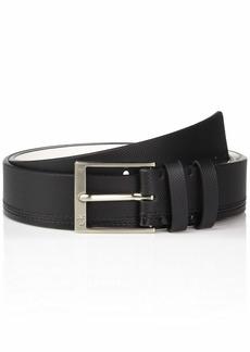 Calvin Klein Men's 35mm Pieced Strap Leather Belt black