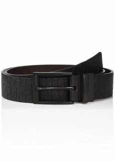 Calvin Klein Men's 35mm Reversible Embossed Logo Belt black