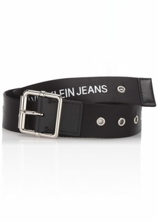 Calvin Klein Men's 38mm Printed Web Belt black