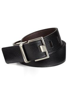 Calvin Klein Men's 38mm Reversible Flat Strap Belt With Heat Crease Black/Brown