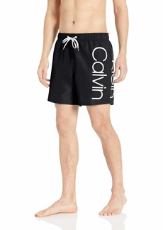 Calvin Klein Men's Elastic Waist Quick Dry Swim Trunk