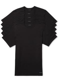 Calvin Klein Men's 5-Pk. Cotton Classics Crew Neck Slim Fit Undershirts