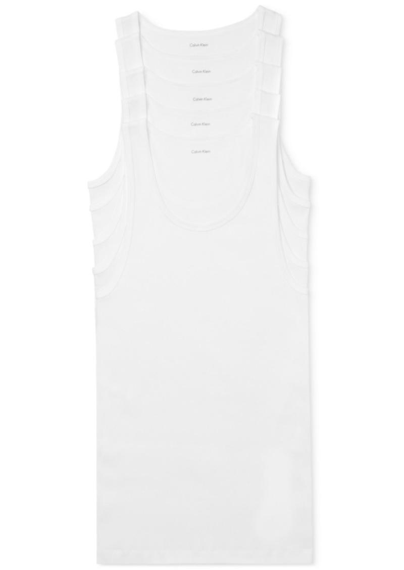 Calvin Klein Men's 5-Pk. Cotton Classics Tank Tops