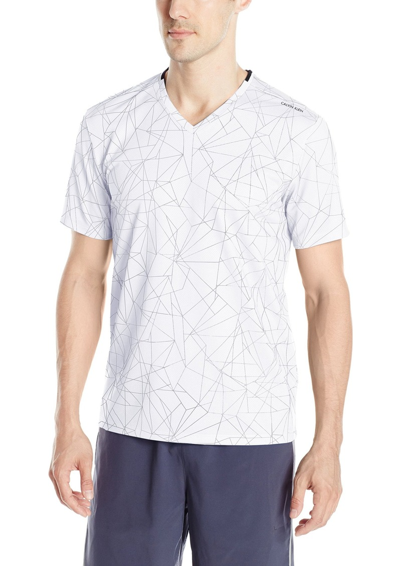 Calvin Klein Men's All Over Print Mesh V-Neck T-Shirt