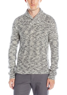 Calvin Klein Men's Asymetric Cable Knit Shawl Collar Sweater
